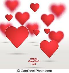 Vector Valentine Hearts Background.