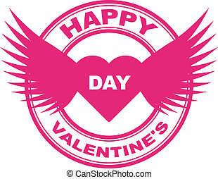 vector valentine stamp