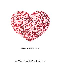 Valentines Card with heart