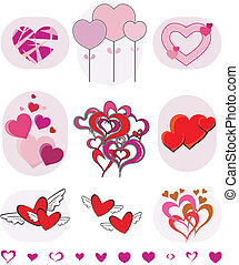 vector valentines collection