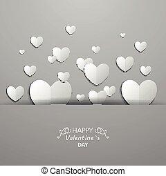vector, valentines dag, kaart