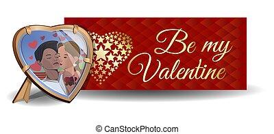 Vector Valentines Day banner design. Valentines Day card