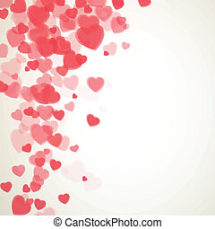 Vector Valentines Day Card - Vector Illustration of a ...