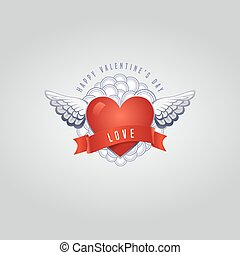 Vector Valentine's day card with