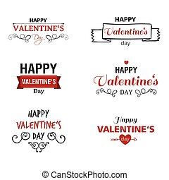 Vector Valentines Day Design Elements