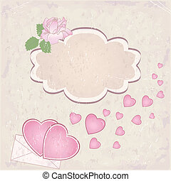 Vector valentine`s day frame with h