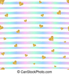 Vector Valentines day seamless pattern background with hearts of