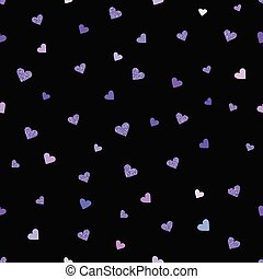 Vector Valentines day seamless pattern background with ultraviol
