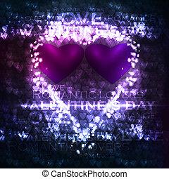 Vector valentines hearts illustration