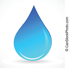 vector, van, blauw water, druppel, logo