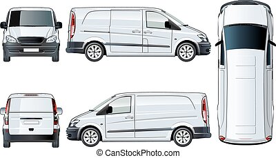 Vector van template isolated on white. Available EPS-10...