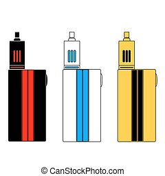 Vector - Vaporizers in three colors.