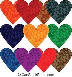 vector variety of bright hearts