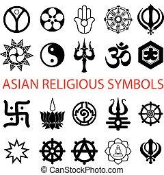 various religious symbols - vector. various religious ...