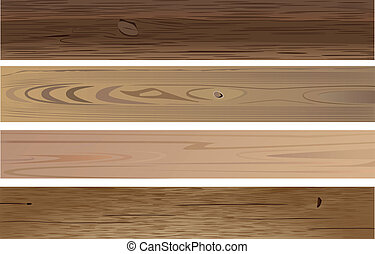 wooden planks - vector various wooden planks on white ...