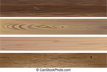wooden planks - vector various wooden planks on white ...