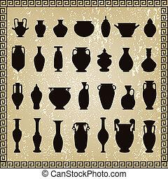vector vases set
