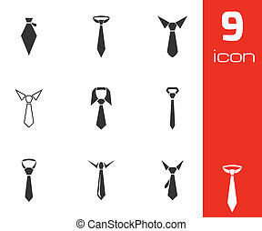 vector, vastknopen, set, black , iconen