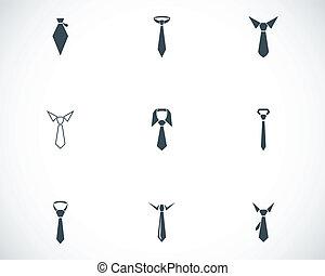 vector, vastknopen, set, black , iconen