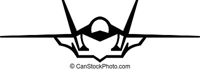 vector, vechter jet, pictogram