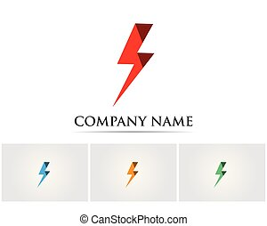 Vector - Vector lightning icon logo and symbols..