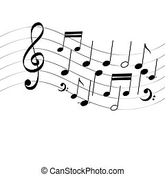 Cute music notes - color illustration. stock illustration ...