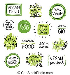 Vector Vegan Food Design Elements
