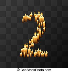 vector, velas, plano de fondo, 2, tribulation, ilustración, plantilla, elemento del diseño, transparente, números
