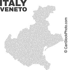 Vector Veneto Region Map of Points - Veneto region map...