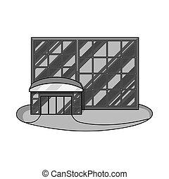 vector, ventana, acción, emporio, tienda, símbolo, ilustración, web., símbolo., conjunto
