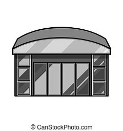 vector, ventana, acción, icon., illustration., emporio, tienda, ilustración, colección