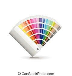 vector, ventilador, aislado, blanco, color