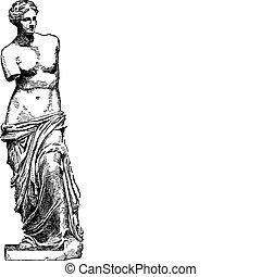 Vector illustration of the Venus de Milo statue.