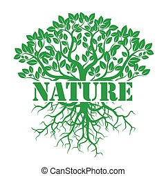 vector, verde, ilustración, naturaleza