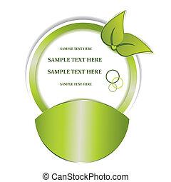 vector, verde, pegatina, para, su, diseño