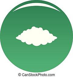 vector, verde, tormenta, icono
