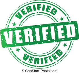 Vector verified stamp