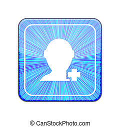 Vector version. Add friend icon. Eps 10 illustration