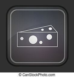 Vector version. Cheese icon. Eps 10 illustration. Easy to edit