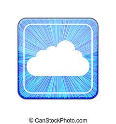 Vector version. Cloud icon. Eps 10 illustration