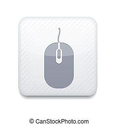 vector, version., ratón de la computadora, icon., eps, 10,...