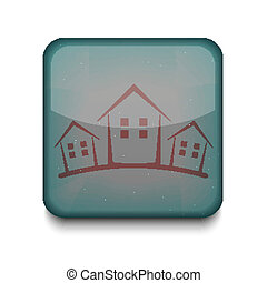 Vector version. Real estate icon. Eps 10 illustration. Easy to edit