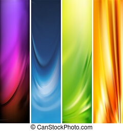 Collection of abstract multicolored backgrounds, mesh vector illustration