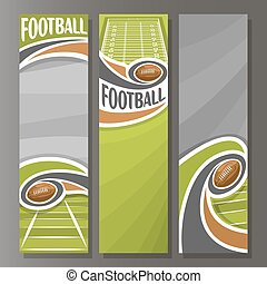Vector Vertical Banners for American Football: 3 template...