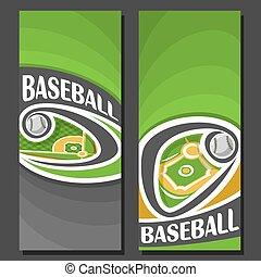 Vector vertical Banners for Baseball