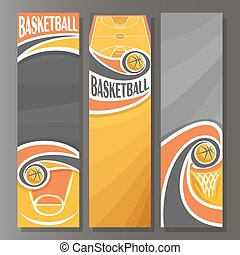 Vector Vertical Banners for Basketball