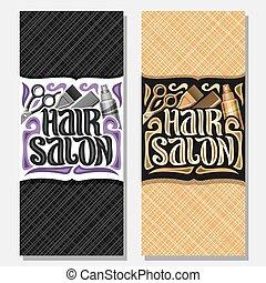 Vector vertical banners for Hair Salon