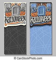 Vector vertical banners for Halloween