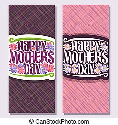 Vector vertical banners for Mothers Day