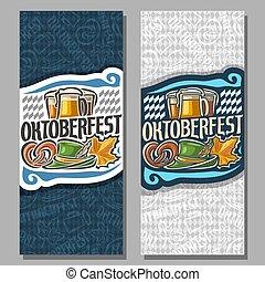 Vector vertical banners for Oktoberfest